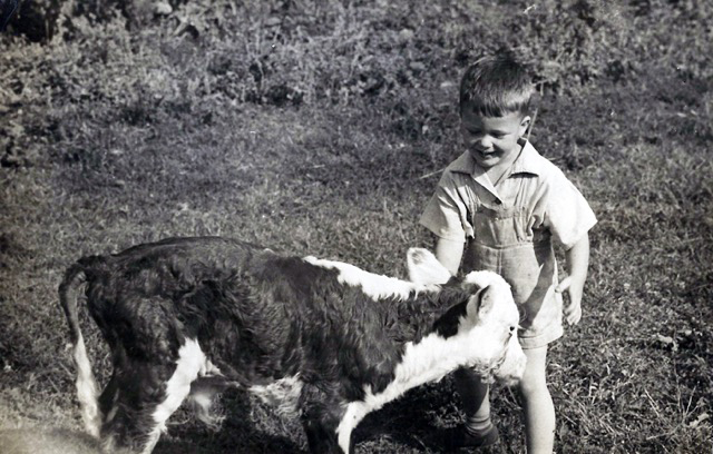 Jim Mason with Calf
